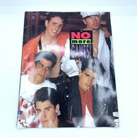 New Kids On The Block No More Games 1990 Tour Concert Program Booklet 14x11 Inch