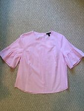 New J.Crew Button-back bell-sleeve top, size 10 Neon Orchid Sold Out!