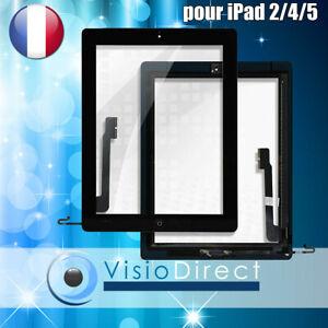 Écran LCD Vitre Tactile iPad 5 iPad 4 iPad 2 Complet Bouton Home blanc et noir