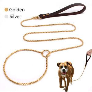 P Chain Dog Lead Slip Collar Pet Traction Walking Choker Collar for K9 Pitbull