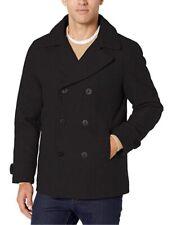 Amazon Essentials Men's Wool Blend Heavyweight Peacoat. Black/Medium Free Ship