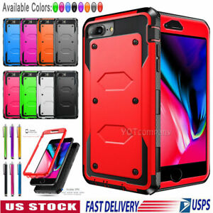 For iPhone 5 5S 6S 7 8 Plus SE 2020 Duty Dual Layer Rugged Shockproof Case Cover