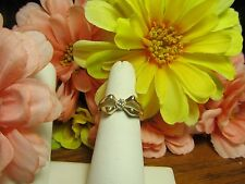 Unique Gold Plated Womens Girls CZ Fashion Ring Sz 6.5