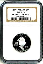2001 50c Canada The Sled NGC PF70 Ultra Cameo