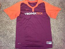 2013 Nike Virginia Tech Hokies Baseball #38 Matt Tulley Worn Batting Jersey *L*