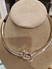 Abercrombie fitch RARE Knot Silvertone Choker / Necklace