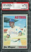 1970 Topps #537 Joe Morgan PSA 6 EX-MT