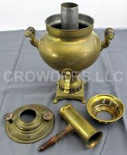 "Antique 15"" Turkish Brass Samavor Garanti Semaverler Water Boiler Coffee Tea Pot"