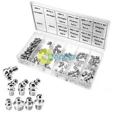 Brand New 110Pc Grease Nipples Fittings M6 M8 M10 45°  90°  Assorted Nipple Set
