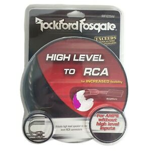Rockford Fosgate RFI2SW High Level to RCA For Amps Without High Level Inputs