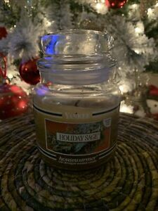 "Yankee Candle Holiday Sage Housewarmer Black Label ""Limited Time Only"" 14.5 OZ"