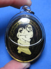 0075-THAI AMULET LOCKET IN KU CHARM LOVE LP TEE LUCKY