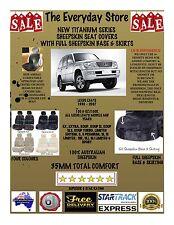 Lexus LX470 98-07 Titanium Sheepskin Seat Covers All Over BTM Pair ABAG 35MM TC