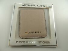 Michael Kors Phone Pocket Sticker-Mulberry- Pink Leather- New