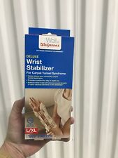 Deluxe Left Hand Wrist Brace Stabilizer Carpal Tunnel Syndrome L/XL