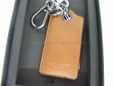 NWT! Coach Bottle Opener Keyring/ Keyfob In Saddle Brown Leather. Great Gift!