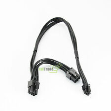 Mac Pro G5 mini MAC 6-pin to 2 pci-e 6-pin video card power adapter cable 37cm