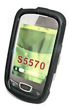 Silikon TPU Handy Cover Case Hülle Schale Schwarz für Samsung S5570 Galaxy Mini
