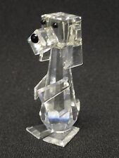 FABULOUS LARGE SWAROVSKI BEAGLE HOUND STANDING PLUTO DOG 7635 RETIRED