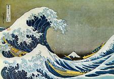 Great Wave off Kanagawa 30x44 Japanese Art Print Asian Art Japan Warrior