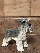 Sandicast Schnauzer Gray Standing Dog Collectible Figurine 423