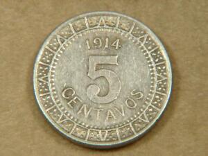 1914 Mexico 5 Centavos Coin