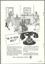 1940 BELL TELEPHONE advertisement, rotary dial desk phone D102