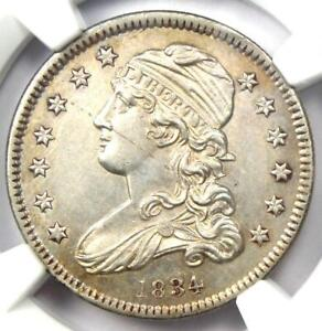 1834 Capped Bust Quarter 25C Coin - Certified NGC Uncirculated Details (UNC MS)