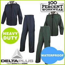 Heavy Duty Waterproof Rain Suit Overalls Jacket Trousers Set Work Jet Car Wash