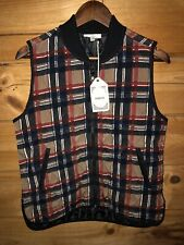 NWT Entro Quilted Plaid Equestrian Riding Vest Womens Sz Small