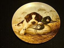 "Edwin M. Knowles Plate ""Field Puppies"" """"Dog Tired - Springer Spaniel""  MIB"
