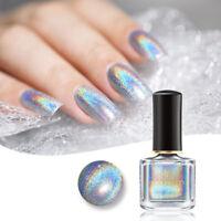 6ml BORN PRETTY Holographisch Silber Nagellack Glitzer Maniküre Nail Polish