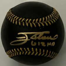 JIM THOME SIGNED BLACK LEATHER BASEBALL W/ 612 HR INDIANS PHILLIES BECKETT BAS