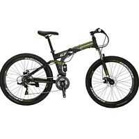 "Full Suspension Folding Mountain Bike 27.5"" 21 Speed Bicycle Mens Disc brake MTB"