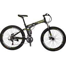 """Full Suspension Folding Mountain Bike 27.5"""" 21 Speed Bicycle Mens Disc brake MTB"""