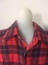 Vintage Bloomingdales 100% Cotton Flannel Shirt Red Black Plaid Size Large