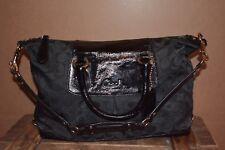 Coach F15443 Signature Fabric and Patent Leather Handbag