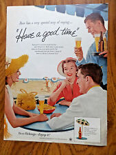 1956 Beer Belongs Ad Summer at the Beach Oceanside Seaside have a Good time