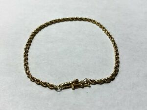 14kt Yellow Gold Rope Bracelet *