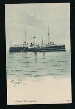 Shipping Spain Crucero EXTREMADURA Steamer c1902 u/b PPC