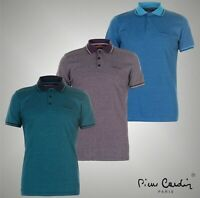 Mens Pierre Cardin Short Sleeves Pin Stripe Polo Shirt Top Sizes from S to XXXL
