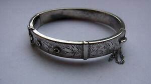 Antique Sterling Silver Bangle Bracelet - Birmingham 1963 - 38.1g - belt buckle