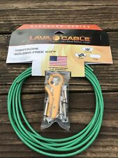LAVA Cable GREEN Tightrope Solder-Free Pedal Board Kit - VERSION 2 (V2) PLUGS