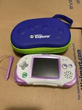 LeapFrog Leapster Handheld Explorer Learning System White/Purple N2390 with Case