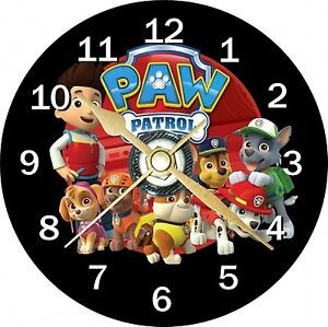 Paw Patrol Novelty Cd Clock Can Personalised