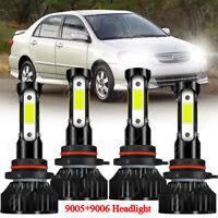 For Toyota Corolla 2005 2006 2007 2008 4x LED Headlight High Low Beam Bulbs Kit
