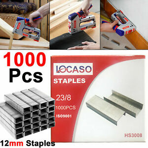 Heavy Duty 12mm Staple Gun 1000pc Pcs Staples For Stapler Tacker Pack Upholstery