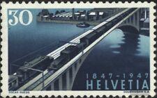 Suisse 487 neuf avec gomme originale 1947 chemins de fer