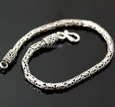 Mens Sterling Silver Bracelet Hand Crafted Dandy Bali Style Chain Hip Hop b17