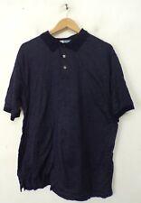 JOS A BANK Leadbetter Golf Mens Size Large Blue & White Polka Dot Polo Shirt